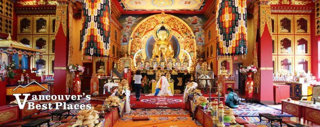 Interior of Thrangu Tibetan Monastery