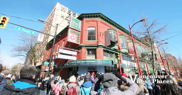 Jack Chow Insurance in Chinatown at New Years