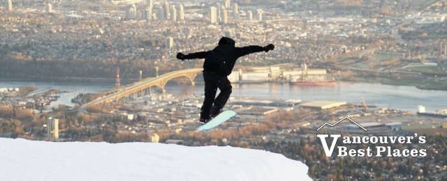 Grouse Mountain Snowboarder
