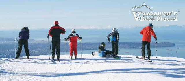 Skiers at Top of Grouse