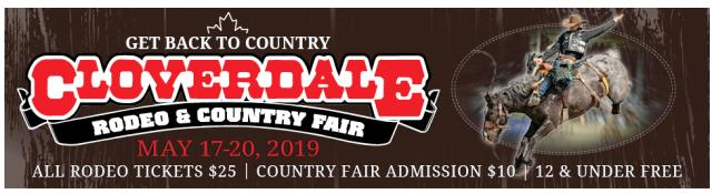 Cloverdale Rodeo Banner Ad