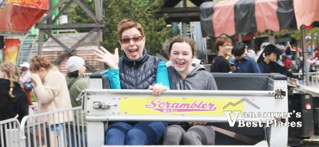 Family on a Playland Ride