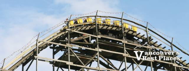 Playland's Wooden Roller Coaster
