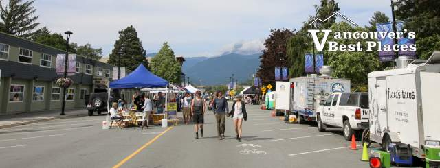 Cleveland Avenue on Squamish Street Market Day