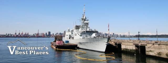 HCMS Winnipeg Navy Ship at Shipbuilders' Pier