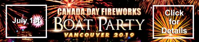Canada Day Fireworks Boat Party