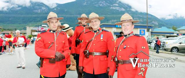 Mounties in Squamish on Canada Day