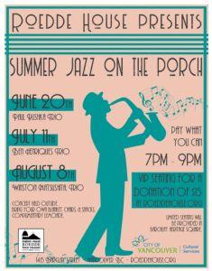 Roedde House Summer Jazz Poster