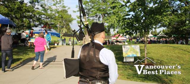 Town Centre Park Bagpiper