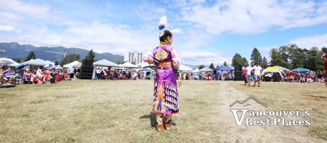 Indigenous Girl at Squamish Nation Powwow