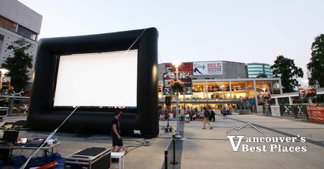 Sunset Cinema in Queen Elizabeth Theatre Plaza