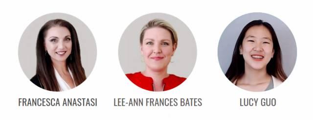 Francesca Anastasi, Lee-Ann Frances Bates & Lucy Guo