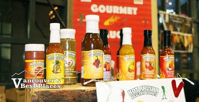 Hot Arusha Salsa Vendor Display