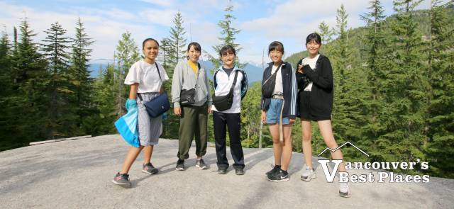 Japanese Students in Squamish