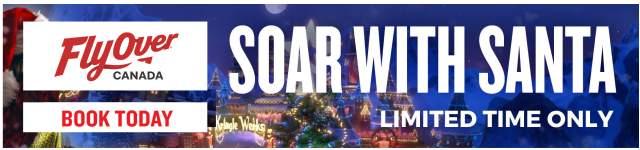 FlyOver Canada's Soar with Santa Banner Ad