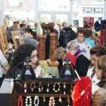 Shoppers at West Van Craft Market