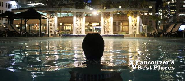 Fairmont Waterfront Hotel Pool at Night