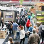 Crowds and Vendors at BC Place Stadium