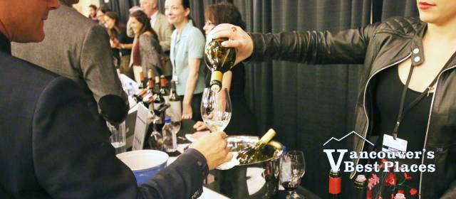 Sampling Wines at the Festival