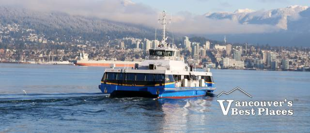 SeaBus and North Shore Winter View