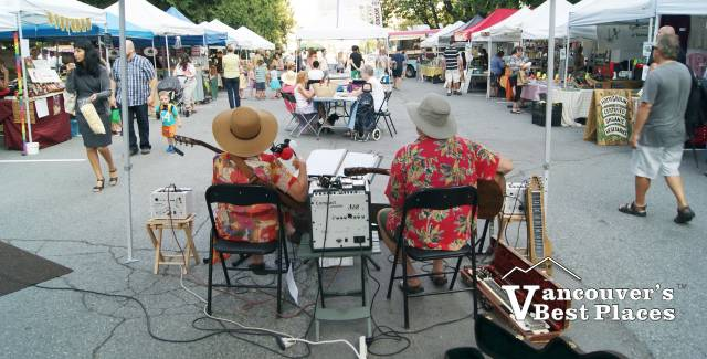 Musicians at New West Farmers Market