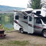 RV Camping by the Lake