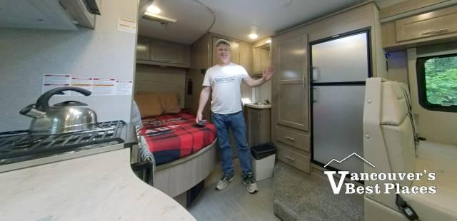 Inside a C-Class RV