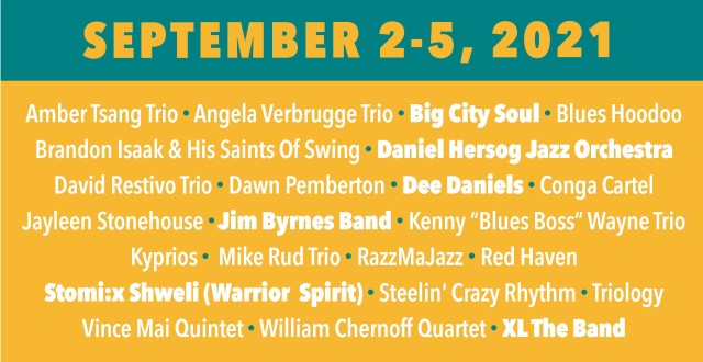 Fort Langley Jazz 2021 Lineup