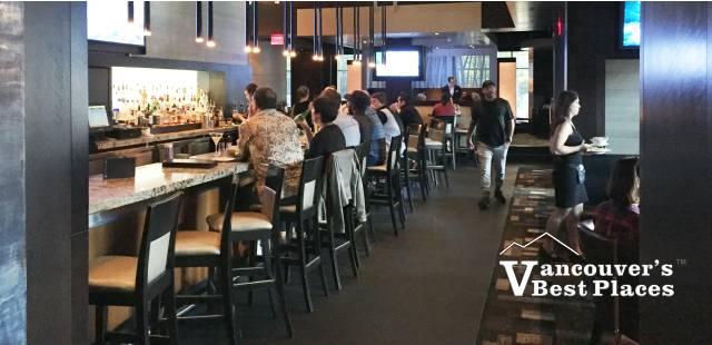 Inside the Yaletown Keg Restaurant