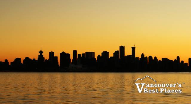 Vancouver Sunset in Winter