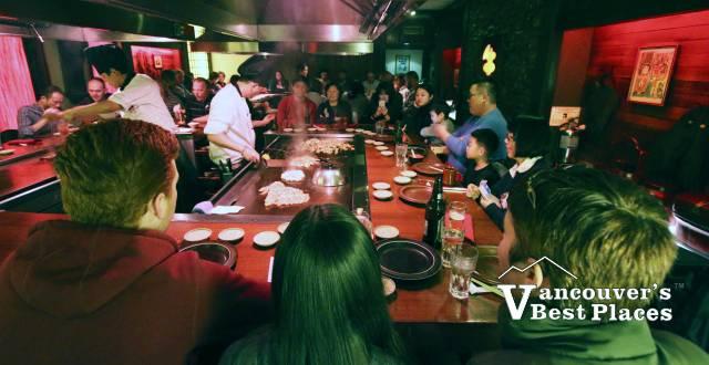 Chef Cooking at Kobe Restaurant