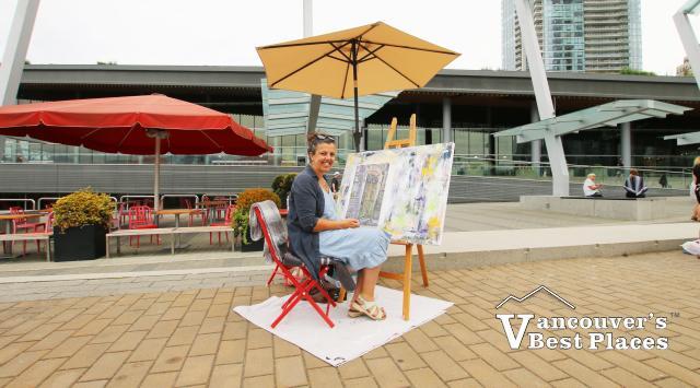 Vancouver Artist at Jack Poole Plaza