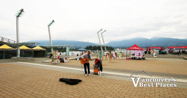 Music and Art at Jack Poole Plaza