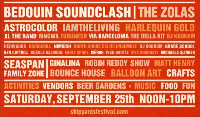2021 Shipyards Festival Entertainment Lineup