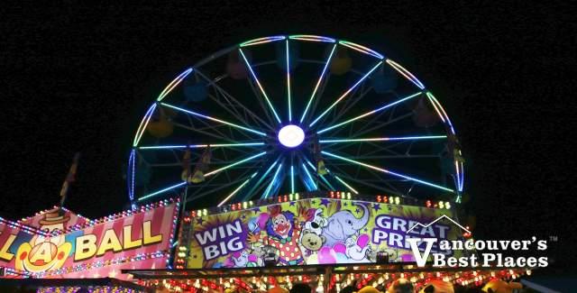 PNE Ferris Wheel at Night