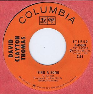 Sing A Song by David Clayton-Thomas