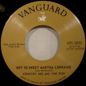 Not So Sweet Martha Lorraine by Country Joe & The Fish