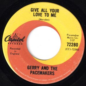 Give All Your Love To Me by Gerry And The Pacemakers