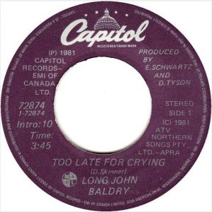 Too Late For Crying by Long John Baldry