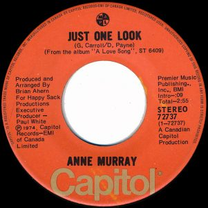 Just One Look by Anne Murray