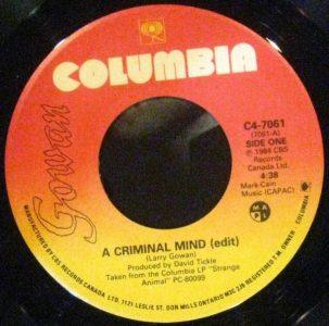 A Criminal Mind by Gowan