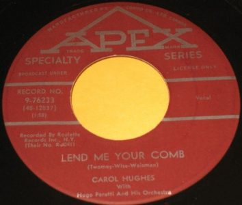 Lend Me Your Comb by Carol Hughes
