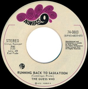 Running Back To Saskatoon by The Guess Who