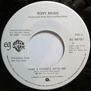 Take A Chance With Me by Roxy Music
