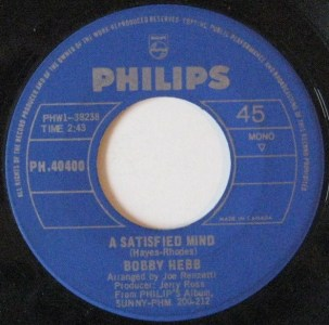 A Satisfied Mind by Bobby Hebb