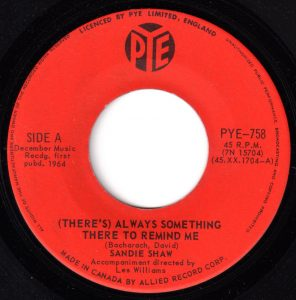 (There's) Always Something There To Remind Me by Sandie Shaw