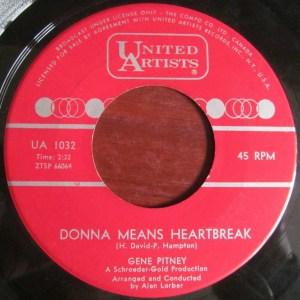 Donna Means Heartbreak by Gene Pitney