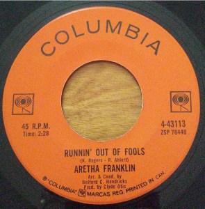 Runnin' Out Of Fools by Aretha Franklin ~ Bonus