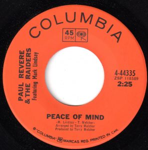 Peace Of Mind/Do Unto Others by Paul Revere & The Raiders