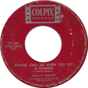 Ronnie, Call Me When You Get A Chance by Shelley Fabares